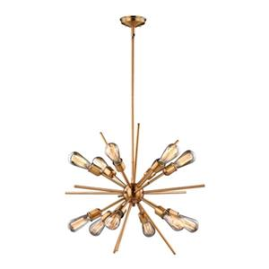 Cascadia Estelle 12-Light Brass Mid-Century Modern Sputnik Pendant Light
