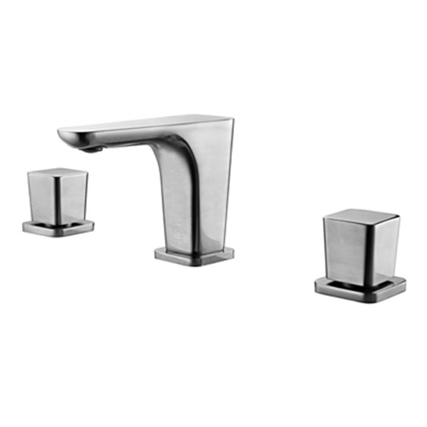 ALFI Brand Brushed Nickel Widespread Modern Bathroom Faucet