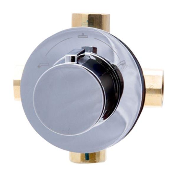 ALFI Brand 5.10-in Polished Chrome Modern Square 3-Way Shower Diverter