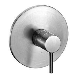 ALFI Brand Brushed Nickel Balanced Round Shower Mixer