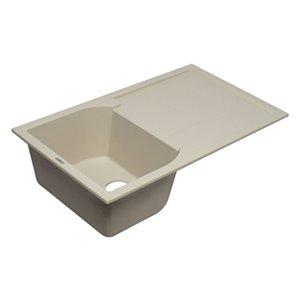 ALFI Brand 33.88-in x 19.75-in Biscuit Single Bowl Granite Composite Kitchen Sink