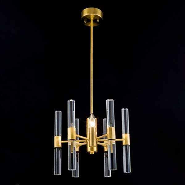 Design Living MU Series Antique Brass 3-Light Chandelier