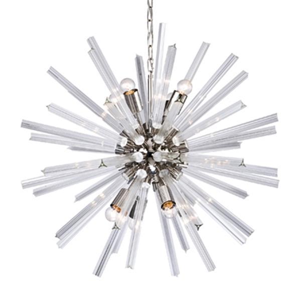 Design Living 8-Light Chrome Glass Spike Pendant