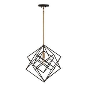 Artcraft Lighting Artistry Matte Black/Satin Brass Ceiling Pendant