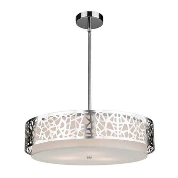 Artcraft Lighting Bayview 3-Light Chrome Ceiling Pendant