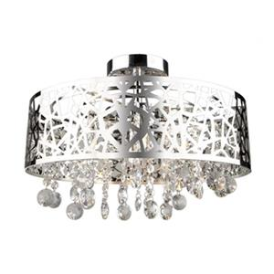 Artcraft Lighting Celestial 9.5-in x 16-in Chrome 4-Light Semi-Flush Mount Ceiling Light