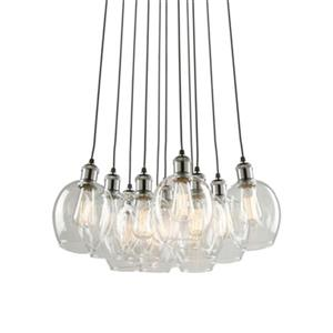 Artcraft Lighting Clearwater 11-Light Polished Nickel Ceiling Pendant