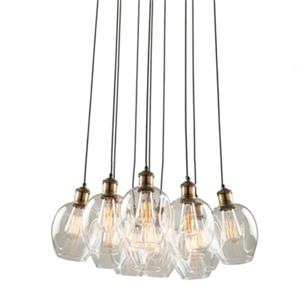 Artcraft Lighting Clearwater 11-Light Vintage Brass Ceiling Pendant