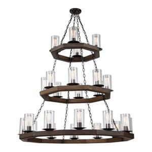 Artcraft Lighting Jasper Park Brunito Bronze 24-Light Chandelier
