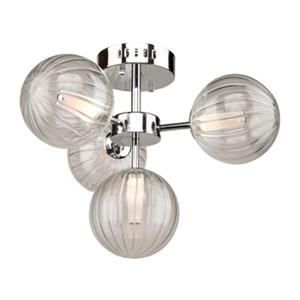 Artcraft Lighting Nightstar 12.5-in x 18-in Chrome 4-Light Semi-Flush Ceiling Mount Light