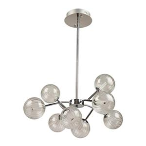 Artcraft Lighting Nightstar Chrome 8-Light LED chandelier