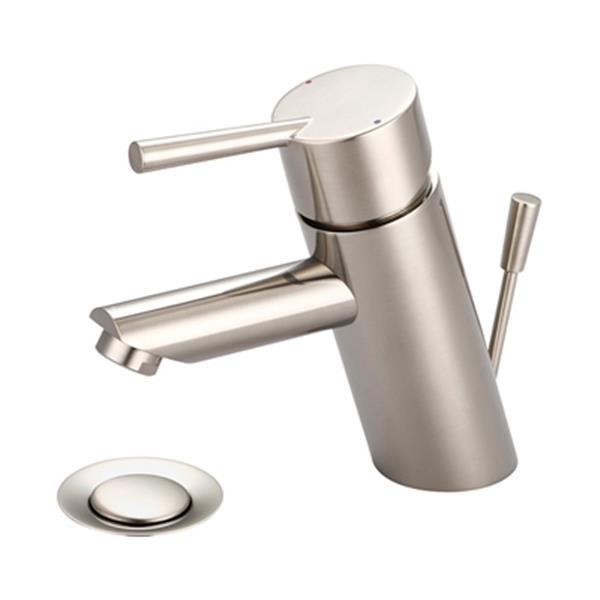Pioneer Industries Brushed Nickel Single Handle Bathroom Faucet
