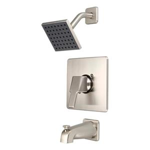 Pioneer Industries PVD Brushed Nickel Single Handle Tub/Shower Trim Set