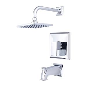 Pioneer Industries Polished Chrome Single Handle Tub And Shower Trim