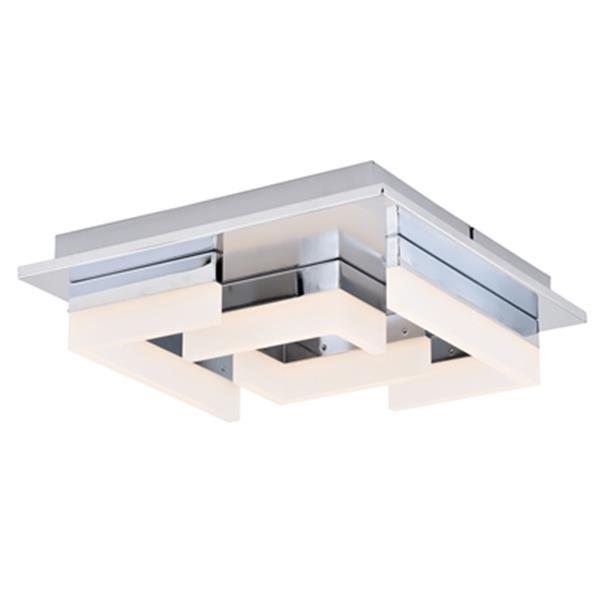 """Plafonnier à 4 lumières DEL Atra, 13,5"""" x 4"""", chrome"""