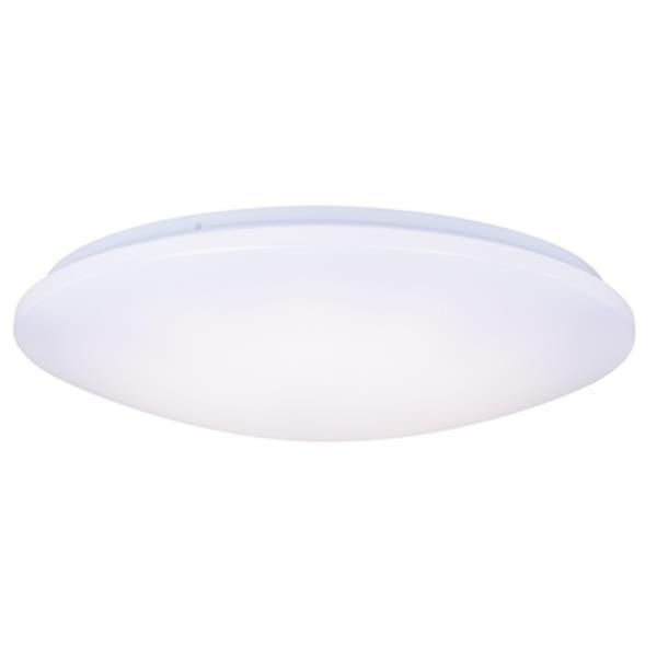 Cascadia Cygnus 22-in LED White Flush Mount Ceiling Light