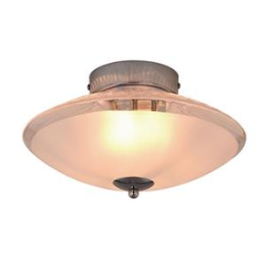 Cascadia Iris 3-Light Chrome Light Effect Semi Flush Mount Ceiling Light