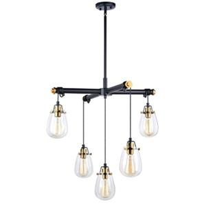 Cascadia Kassidy 5-Light Black Industrial Teardrop Chandelier