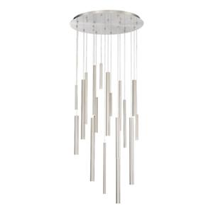 Eurofase Santana 18-Light Nickel Integrated LED Pendant
