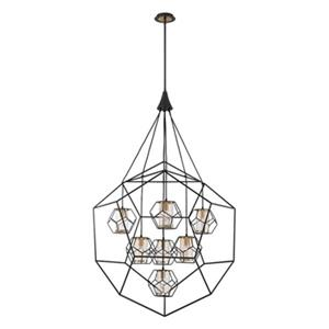 Eurofase Bettino 7-Light Black Pendant
