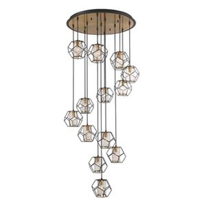 Eurofase Bettino 13-Light Black Pendant