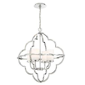 Eurofase Douville Chrome 4-Light Chandelier