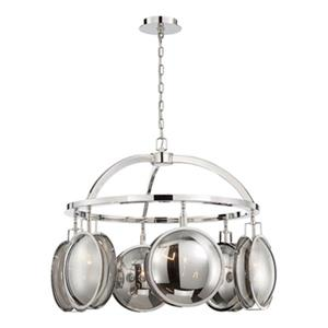 Eurofase Havendale Polished Nickel 6-Light Chandelier