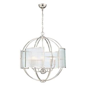 Eurofase Lighting Manilow Polished Nickel 8-Light Chandelier