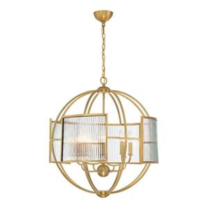 Eurofase Lighting Manilow Brass 8-Light Chandelier