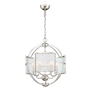 Eurofase Lighting  Manilow Polished Nickel 6-Light Chandelier