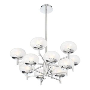 Eurofase Lighting Burlington Chrome 12-Light 2-Tier Chand