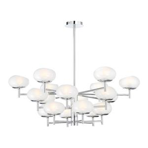 Eurofase Lighting Burlington Chrome 18-Light 3-Tier Chandelier