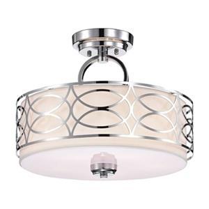 Warehouse of Tiffany Spennz 13.8-in x 16.9-in Chrome 5-Light Semi-Flush Mount Ceiling Lamp