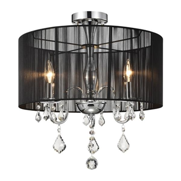 Warehouse of Tiffany 3-Light Chrome Crystal Chandelier