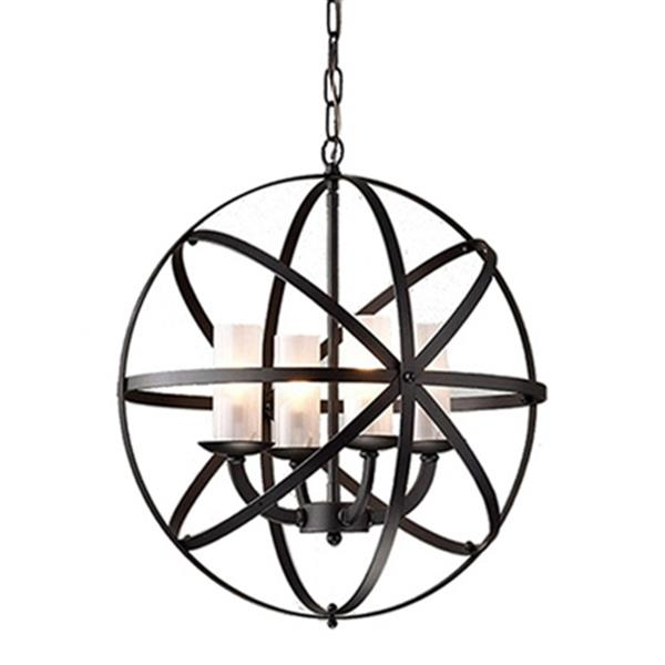 Warehouse of Tiffany Mandisa 4-Light Chandelier,RL8043