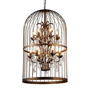 Warehouse of Tiffany Rinee III 12-Light Cage Chandelier