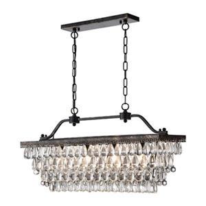 Warehouse of Tiffany Ikraam 4-Light Rectangular Chandelier