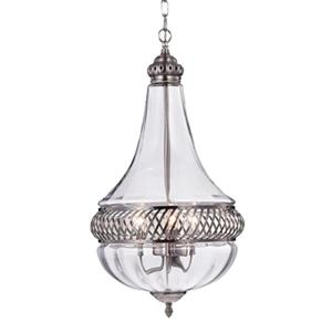 Warehouse of Tiffany Permin Empire 3-Light Metal/Glass Chandelier