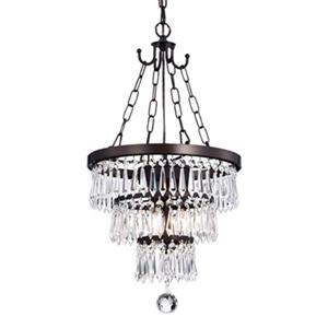 Warehouse of Tiffany Michana 3-Light Round Chandelier