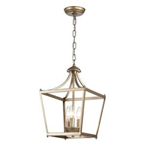 Warehouse of Tiffany Tiffany Sunsus 3-light Gold Lantern Pendant Light