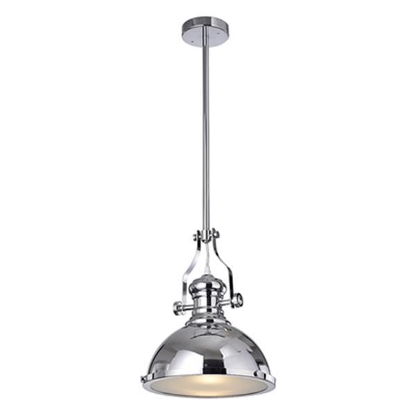 Warehouse of Tiffany Didya Polished Chrome  1-Light Dome Pendant Light