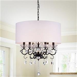 Warehouse of Tiffany Ninian 6-Light Chandelier with Fabric