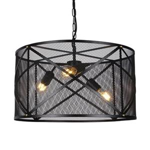 Warehouse of Tiffany Mindor 3-Light Black Mesh Pendant