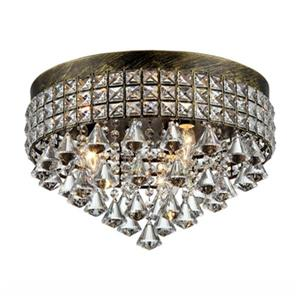 Warehouse of Tiffany Melly 15-in x 16-in Bronze 3-Light Flush Mount Light