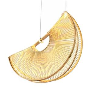 Bethel International Gold LED Pendant Light