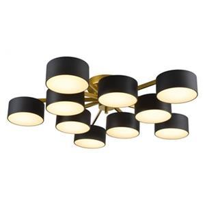 Design Living 7.4-in x 38-in Gold 10-Light LED Flush Mount Light