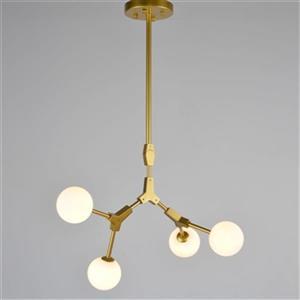 Design Living White Glass Globe Chandelier