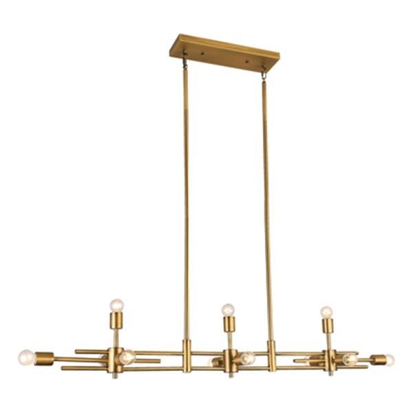 Design Living Matte Brass Rectangle Chandelier