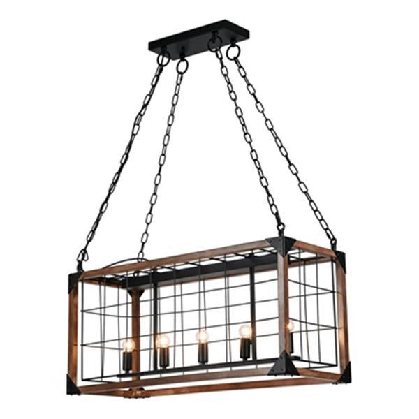 Design Living Black Cage Chandelier