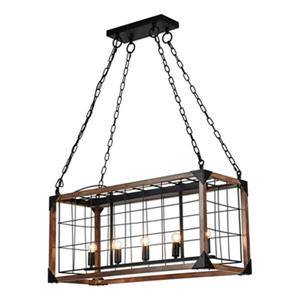 Bethel International Black Cage Chandelier